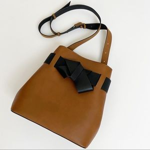 Who what wear brown target bag